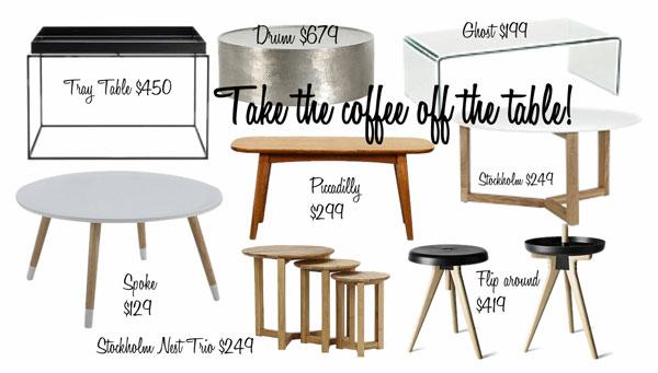10 nguyên tắc để chọn một chiếc bàn cà phê hoàn hảo