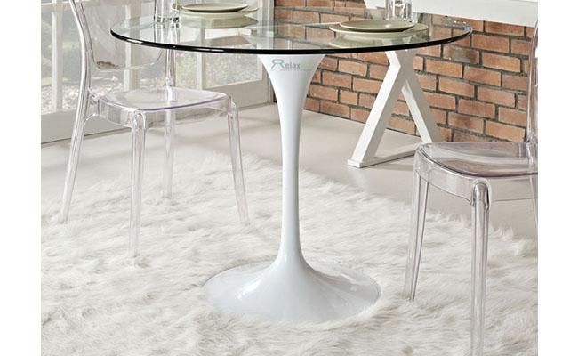 Bộ bàn ghế phòng ăn bằng kính